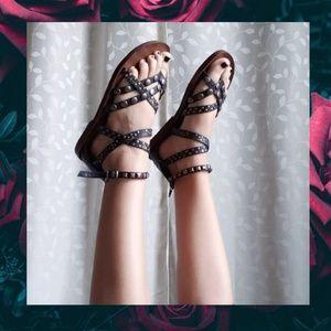 {Blowfish Malibu}Black Studded Gladiator Sandals